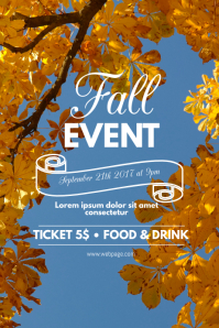 21 780 customizable design templates for fall event postermywall