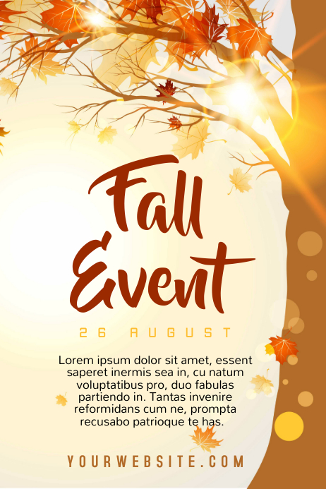 fall event template postermywall. Black Bedroom Furniture Sets. Home Design Ideas
