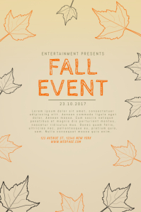 Customizable Design Templates for Fall Event Flyer Template ...