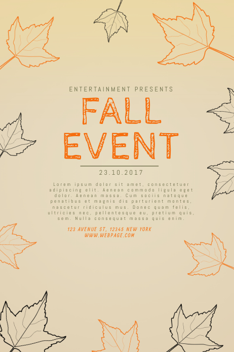 Fall Event Flyer Template