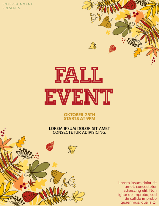 fall event flyer template postermywall