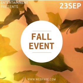 Fall Event instagram Video Template