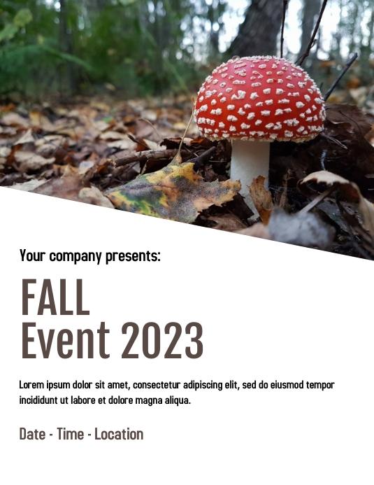 Fall event poster 传单(美国信函) template