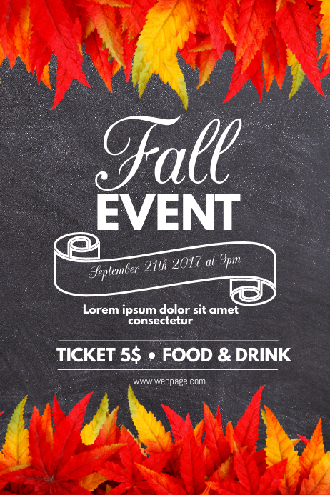 Fall event Flyer Template Poster
