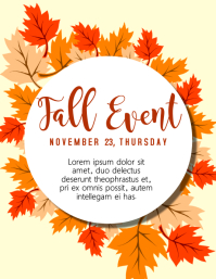 Fall Event Template