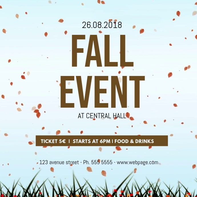 Fall event video advertising template