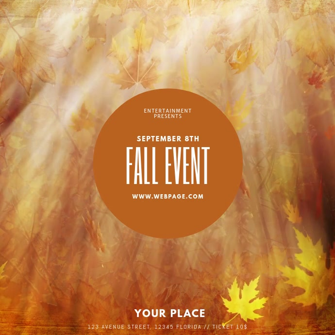 Fall event video template