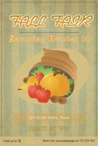Fall Fair Flyer template