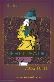 Fall Fashion Sale Poster