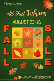 Fall Fashion Sale Poster Template