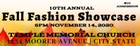 Fall fashion show admission ticket Banner 2' × 6' template