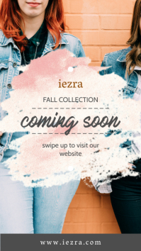 Fall Fashion Stock Coming Soon Story Ad Instagram-verhaal template