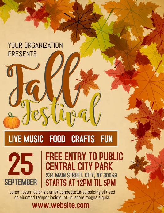 Fall Fest Folder (US Letter) template