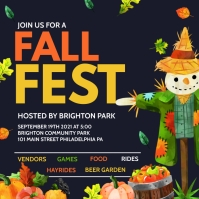 Fall Fest Instagram Post template