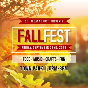 Fall Fest Event Instagram Video Square (1:1) template