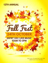 Fall Fest Flyer template