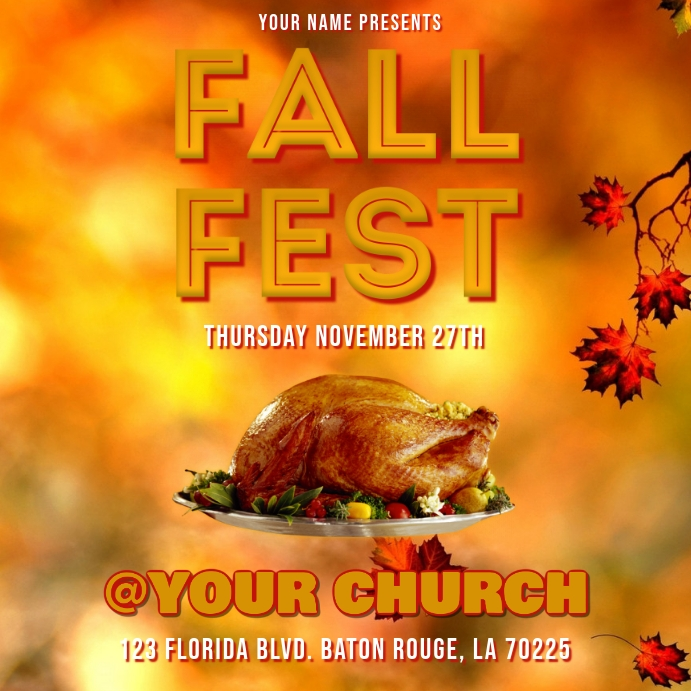 FALL FEST THANKSGIVING FLYER TEMPLATE