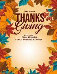 Fall festival, Thanks giving Flyer (Letter pang-US) template