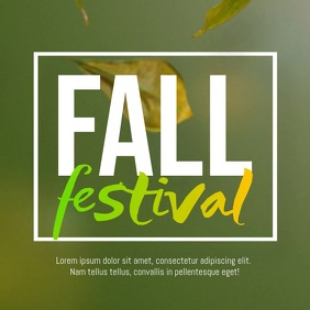 Fall Festival Autumn Promo Flyer