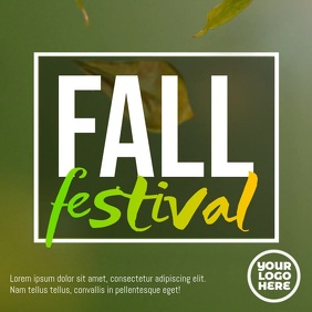 Fall Festival Autumn Promo Flyer