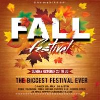 fall festival Pos Instagram template