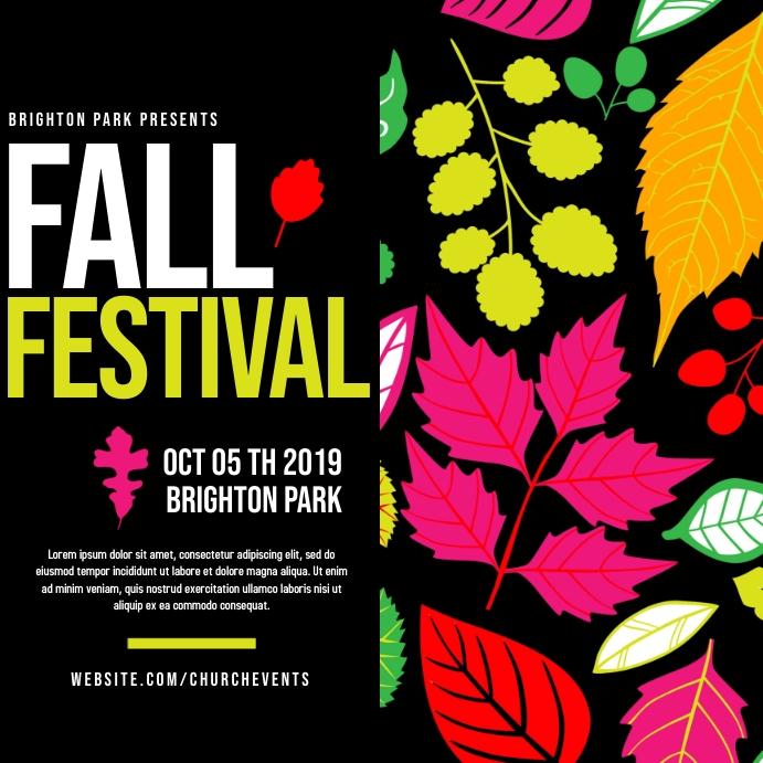 Fall Festival Instagram-opslag template