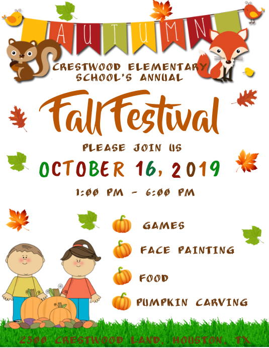 Fall Festival Flyer (US-Letter) template