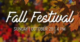 Fall Festival Facebook Shared Image template