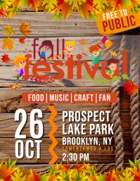 fall festival Volante (Carta US) template
