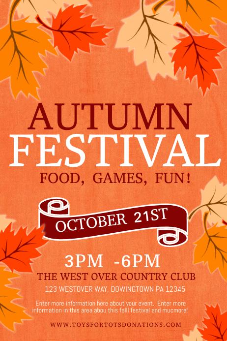 fall festival Cartaz template