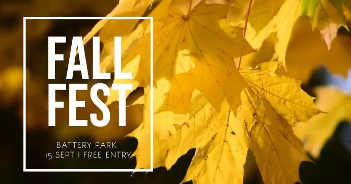 Fall Festival Image partagée Facebook template