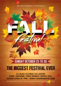 Fall festival A4 template