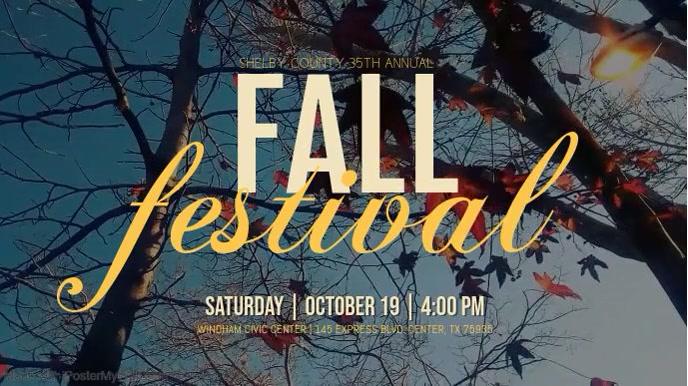 Fall Festival Digitalt display (16:9) template