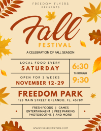 Fall Festival Flyer (US Letter) template