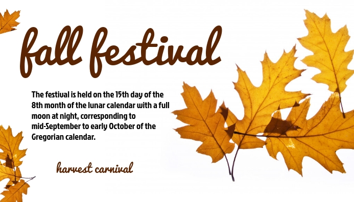 Fall Festival En-tête de blog template