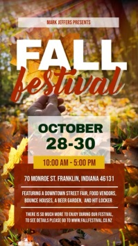 Fall Festival Digital Display Video Template
