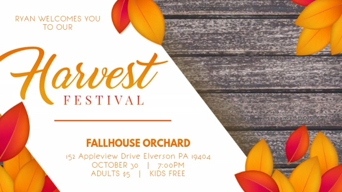 Fall Festival Display Video Template