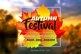 Fall Festival Event Creative Poster Template