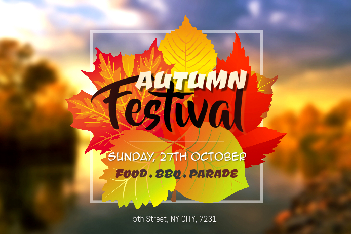Fall Festival Event Creative Poster Template Affiche