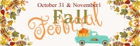 Fall Festival Event Outdoor Banner template