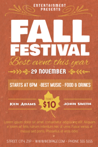 Fall Festival Event Flyer Template