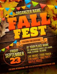 Fall Festival Flyer Volante (Carta US) template