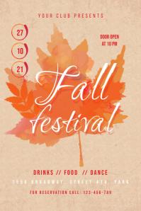 Fall Festival Flyer Banner 4' × 6' template