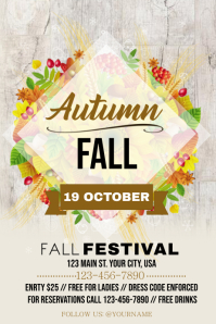Fall Festival Flyer Poster template