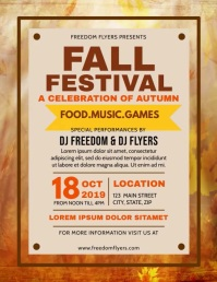 Fall Festival Flyer Løbeseddel (US Letter) template