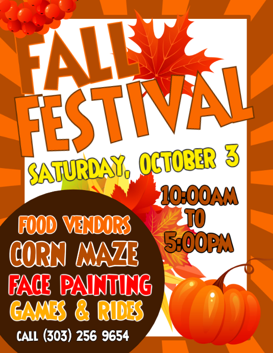copy of fall festival flyer postermywall. Black Bedroom Furniture Sets. Home Design Ideas