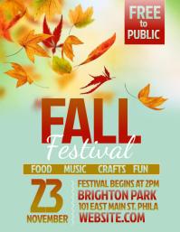Elegant Fall Festival. Thanksgiving Flyer