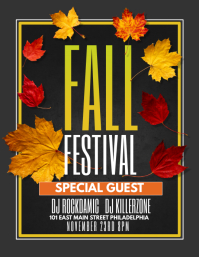 fall festival flier