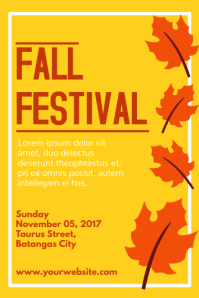 2 740 customizable design templates for fall festival postermywall