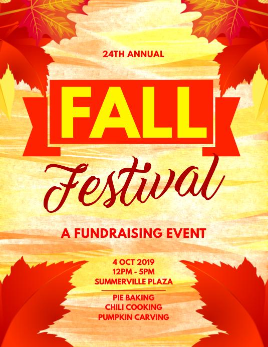Fall Festival Fundraising Flyer